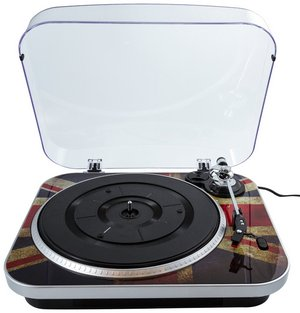 Vinyl To PC Via USB Turntable With Union Jack Design