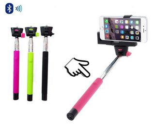 GadgetinBox Extendable Pink Selfie Stick Bluetooth Clicker In 3 Colours