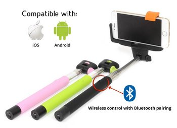 Go Global Bluetooth Selfie Stick In Black And Yellow