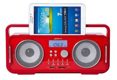 Wi-Fi Bluetooth Retro Speaker Radio In Bright Red Finish