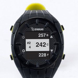 Auto Hole Progress GPS Golf Watch With Black Strap And Dial