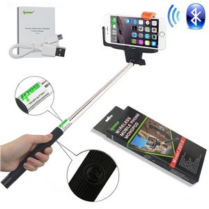 Ipow Extendable Selfie Stick With Bluetooth With USB Wire