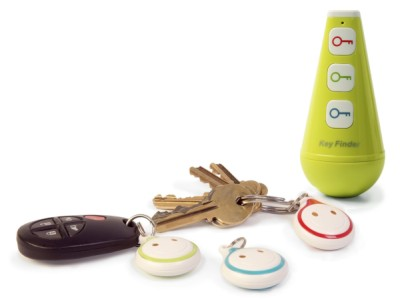 Key Finder Gadget In White And Yellow Finish