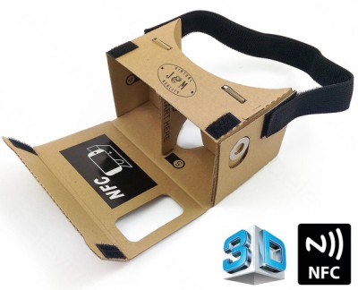J M Virtual Reality Cardboard Projector Google With Black Strap