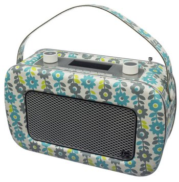 DAB Vintage Radio In Bright Flower Patterns