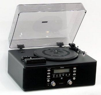 Music Centre Turntable CD, Cassette Recorder In Black With Transparent Lid