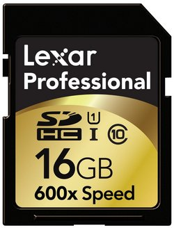 Lexar Pro Class 10 UHS-I 92MB/s SDHC Card In Gols And Black Finis