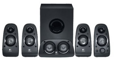 Surround HDTV Sound 5 Piece Black Speakers