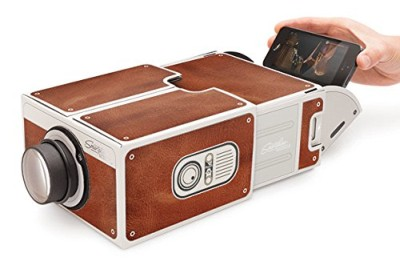 Luckies Of London Cardboard Smartphone Projector With Inserted iPhone