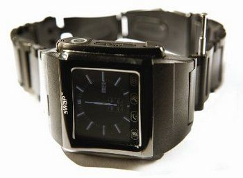 Bluetooth Smart Phone Watch With E-Mail With Dark Wrist Band