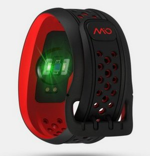 Heart Rate Wristband In Black And Red