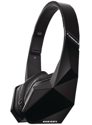 Monster Tri-Fold VEKTR Headphones In Black Futuristic Look