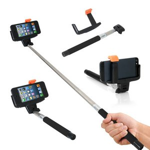Ordel Extendable Bluetooth Selfie Stick With Black Handle