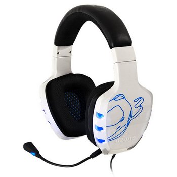 Ozone With Microphone 7.1 Gamers Headset In Black And White Finish