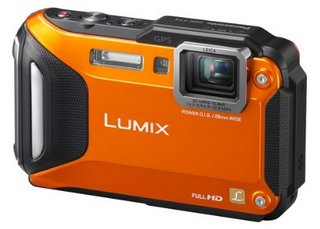Lumix In Black And Orange Colour