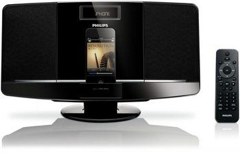 Micro Stereo Hi-Fi System in Black With Handheld Remote