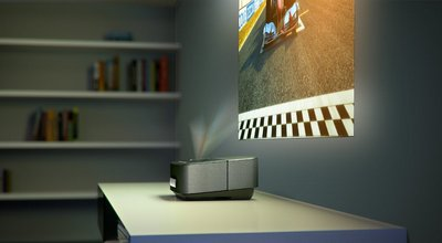 Wi-Fi Screeneo Audio Projector Screening On Wall