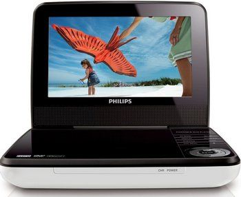 In Car 7 Inch Portable DVD Player Showing Beach Scene