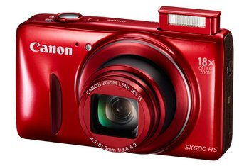PowerShot SX600 HS Camera With Wi-Fi In Vibrant Red