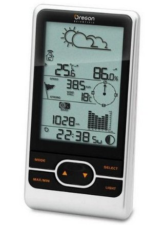 Weather Station In Black And White Finish