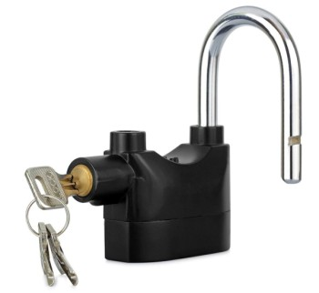 Movement Sensor Alarm Lock With Silver Keys