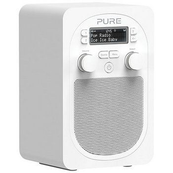 Clock Digital DAB FM Radio in All White