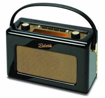 DAB+ Revival Retro Radio In Black With Wood Panel