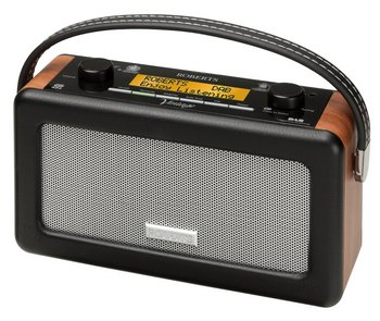 Old-Fashioned DAB FM Stylish Radio In Black With Wood Aspect