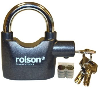 Alarm System Padlock In Grey With Batteries