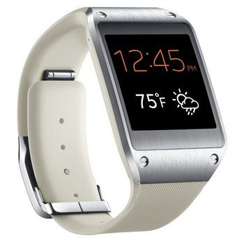 Android Watch Phone In White Band And Black Face