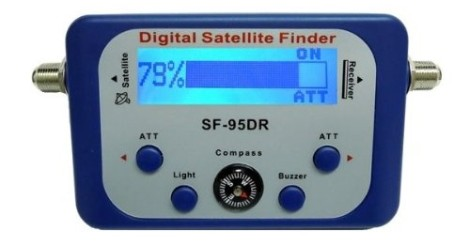 Satellite Signal Locater In Blue And White Exterior