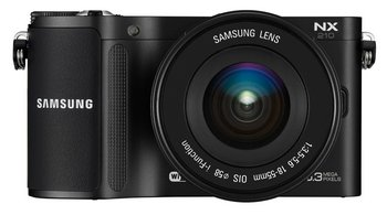 Samsung NX210 i-Function Lens W-Fi Camera In Black Exterior
