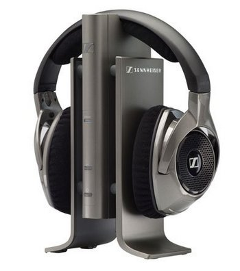 Open Style TV Headphones In Black And Chrome