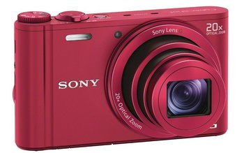 Sony Cyber Shot DSC-WX300 Wi-Fi Camera In Bright Pink