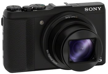 Sony DSCHX50 Optical SteadyShot Camera In All Black Finish