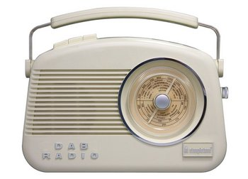 Cream DAB Radio With Big Rounded Front Dial