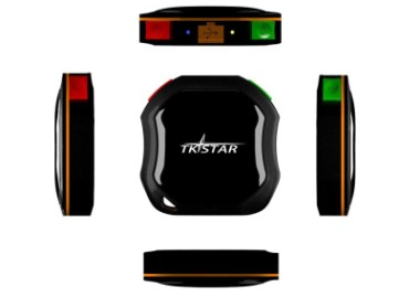 Min GPS Car Tracker GSM In Black And Red Exterior