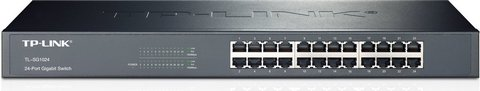 24 Port Rackmount Switch In Black And Grey