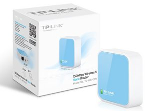 Client, Portable Router In Light Blue Plus Box