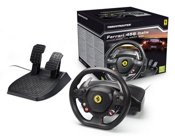 Gear Shift Italia Steering Wheel With Black Pedals