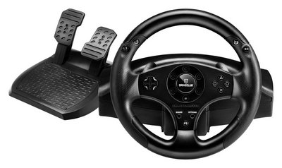 Sequential Gear Shift Paddles Wheel In Black With Pedals