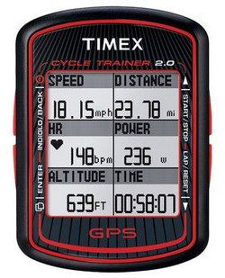 GPS Cycle PC Showing Altitude