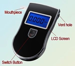 VicTsing Digital Police Breath Alcohol Tester With Blue Screen