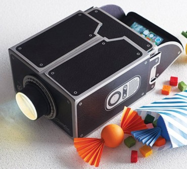 Vktech iPhone Cardboard Smartphone Projector In Black Finish