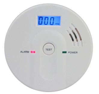 85dB Carbon Monoxide Home Sensor Showing Test Button