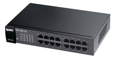 Silent 16 Port Switch In Black Finish