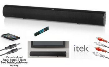 Television Soundbar Multi Input Bluetooth Showing Accessories