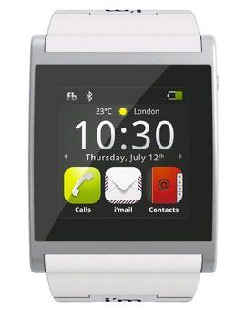 E-Mails Bluetooth Phonewatch With White Strap