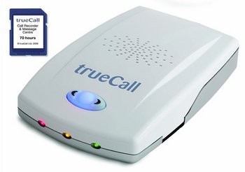 trueCall Telephone Caller Blocking Device In White