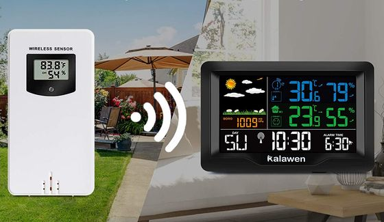 Black Weather Station With Big LCD